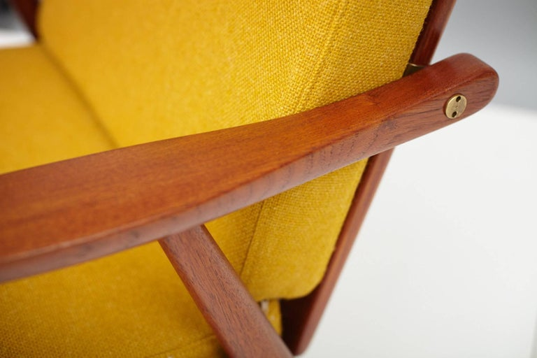 Mid-20th Century Hans J. Wegner GE-270 Teak Lounge Chair, 1956 For Sale