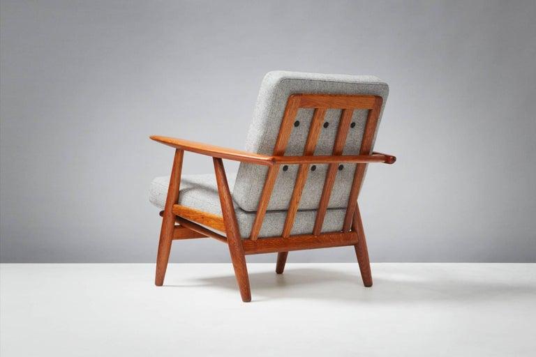 Danish Hans Wegner GE-240 Oak Cigar Chair For Sale