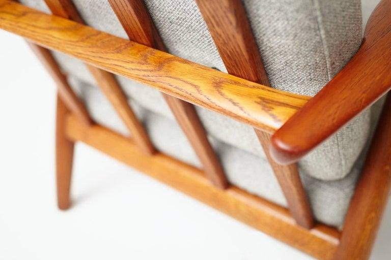 Hans Wegner GE-240 Oak Cigar Chair For Sale 1