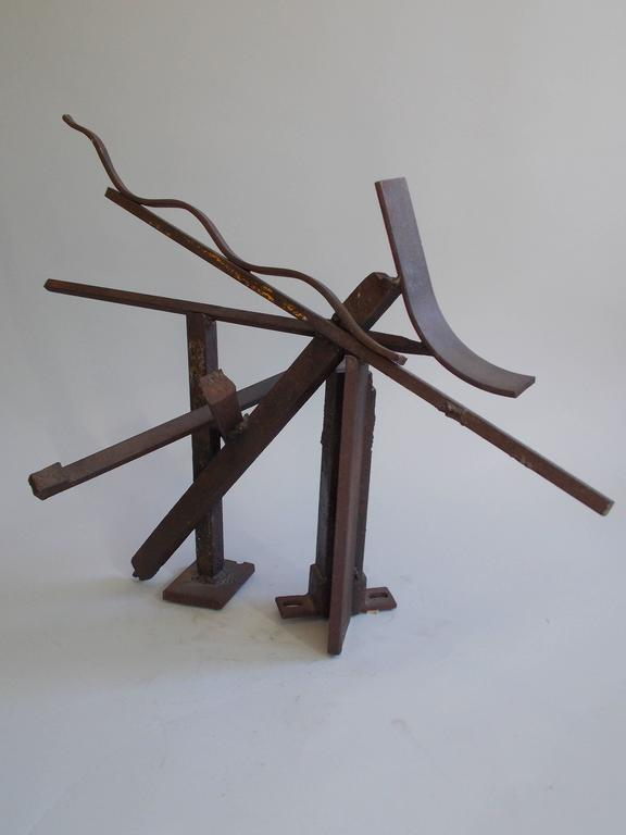 American Modern Jerry Sarapochiello Abstract Steel Sculpture For Sale
