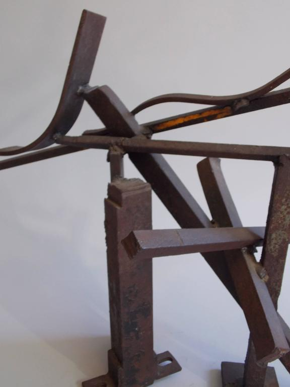 Contemporary Jerry Sarapochiello Abstract Steel Sculpture For Sale