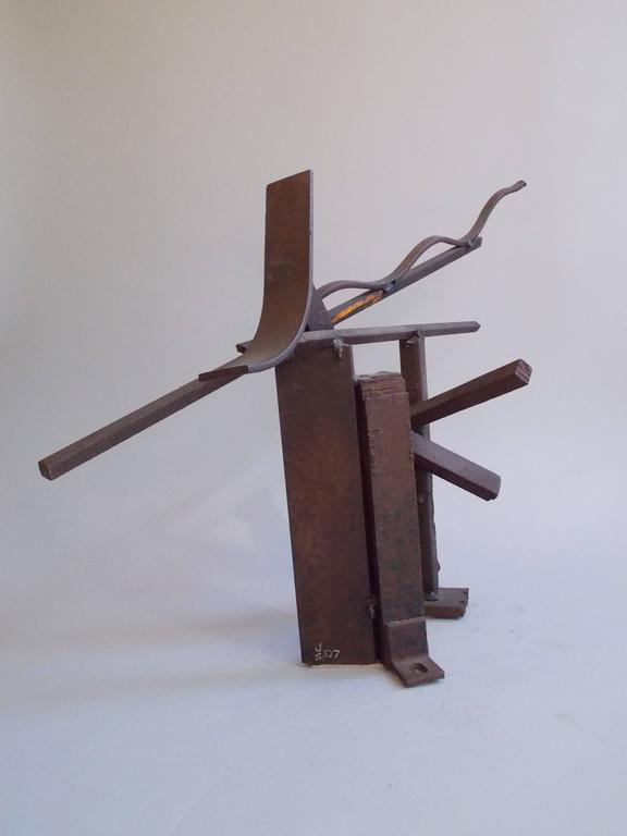 Jerry Sarapochiello Abstract Steel Sculpture For Sale 1