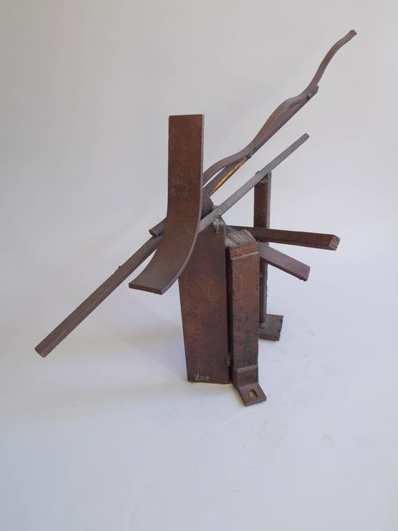 Jerry Sarapochiello Abstract Steel Sculpture For Sale 2