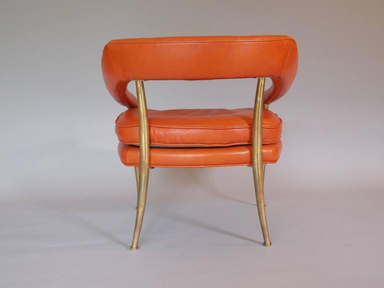 William Billy Haines Leather Accent Chair For Sale At 1stdibs
