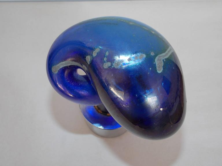 American Nils Lou Glass Sculpture For Sale