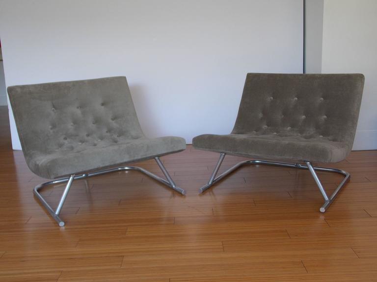 Pair of Low Lounge Chairs, 1960's 2