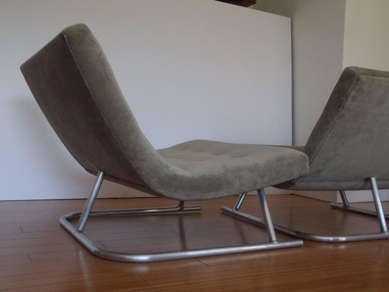 Pair of Low Lounge Chairs, 1960's 3