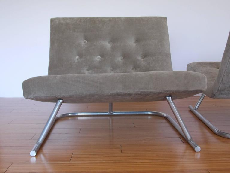 Pair of Low Lounge Chairs, 1960's 5