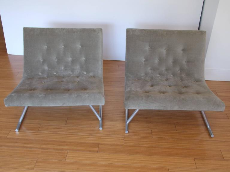 Pair of Low Lounge Chairs, 1960's 7