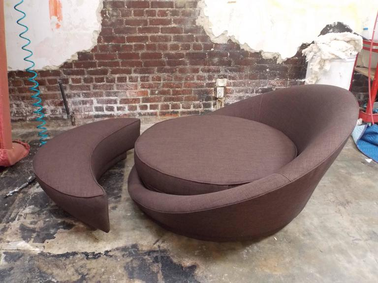Milo Baughman Round Loveseat or Lounge Chair with Ottoman 1
