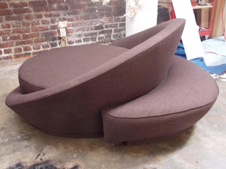 Milo Baughman Round Loveseat or Lounge Chair with Ottoman 2