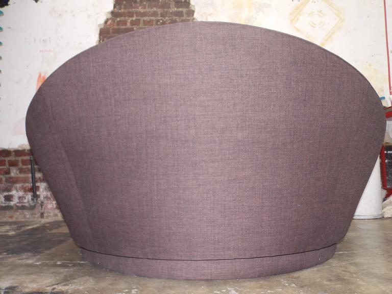 Milo Baughman Round Loveseat or Lounge Chair with Ottoman 3