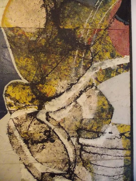 Mid-Century Modern Don Schweikert Abstract Expressionist Painting, 1968 For Sale