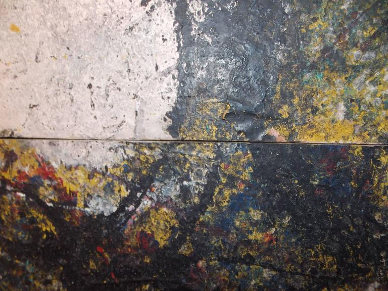 Mid-20th Century Don Schweikert Abstract Expressionist Painting, 1968 For Sale