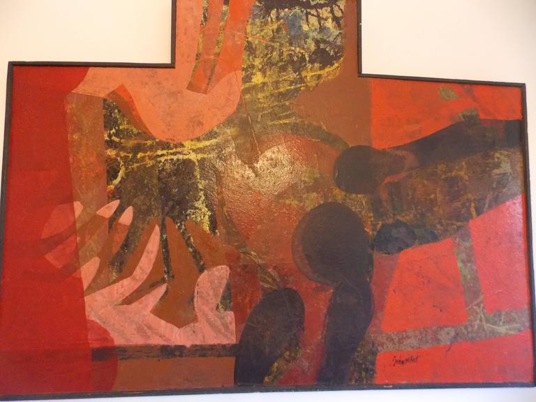 Mid-Century Modern Don Schweikert Abstract Expressionist Painting, 1960s For Sale