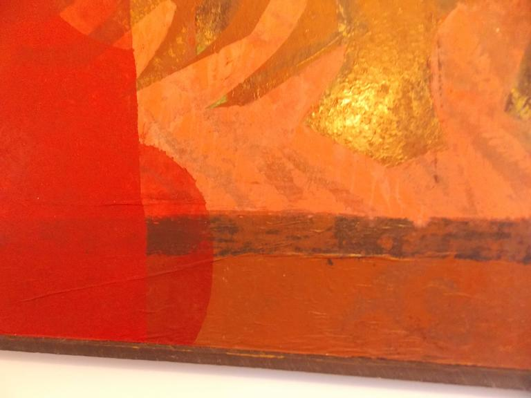 Don Schweikert Abstract Expressionist Painting, 1960s In Good Condition For Sale In Los Angeles, CA