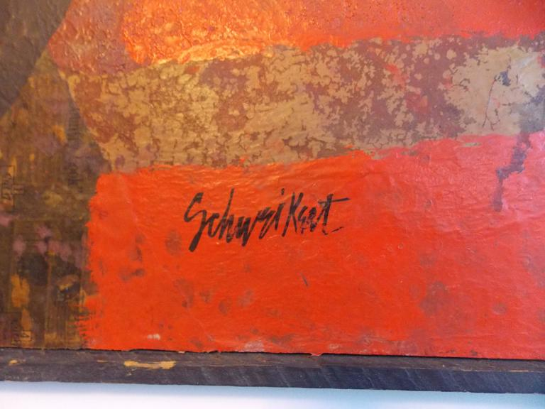 Mid-20th Century Don Schweikert Abstract Expressionist Painting, 1960s For Sale