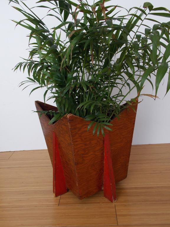Deco Wood Planter Or Trash Bin Frank Lloyd Wright