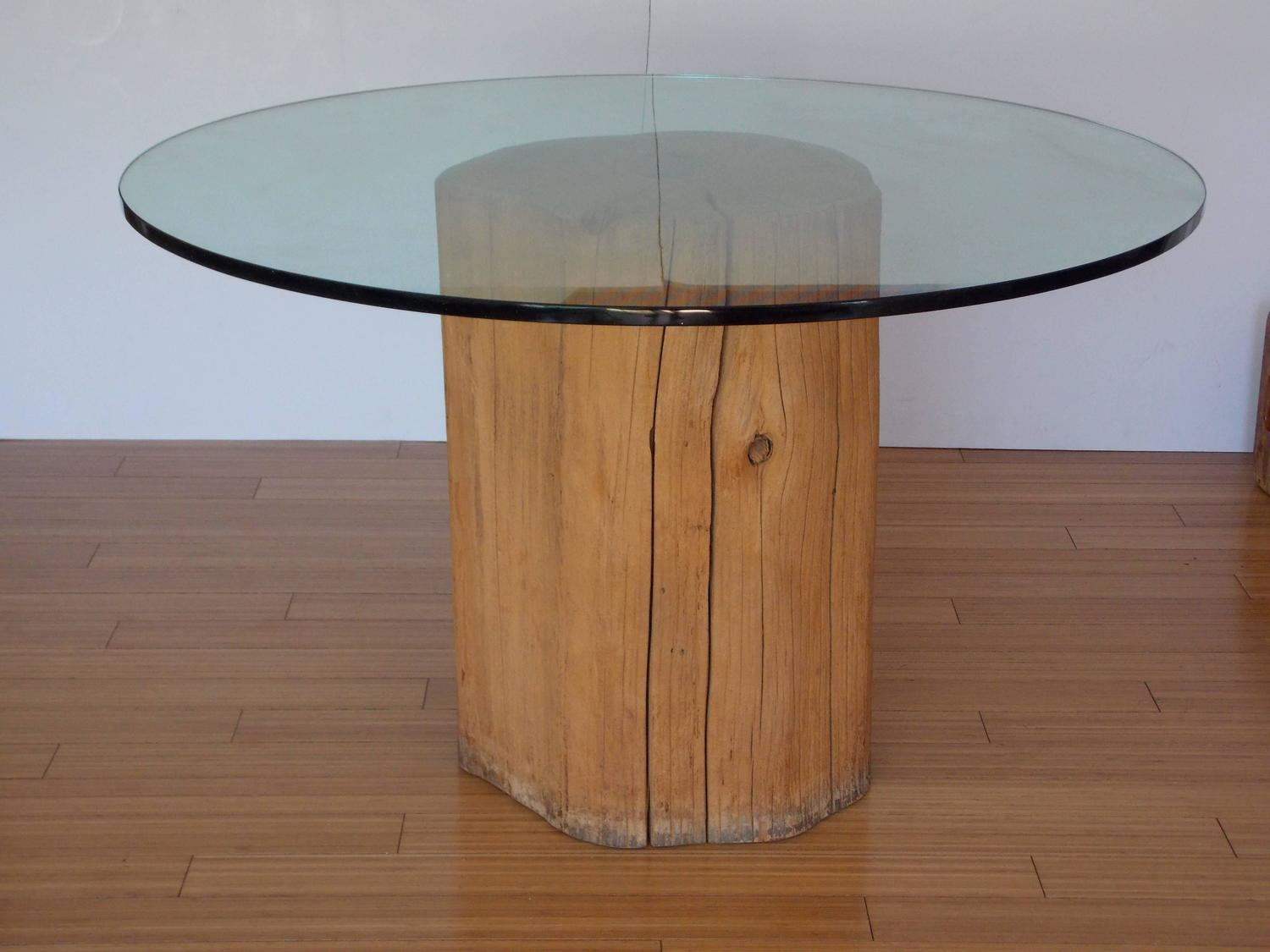 Michael taylor tree trunk dinette table for sale at 1stdibs for Tree trunk dining room table
