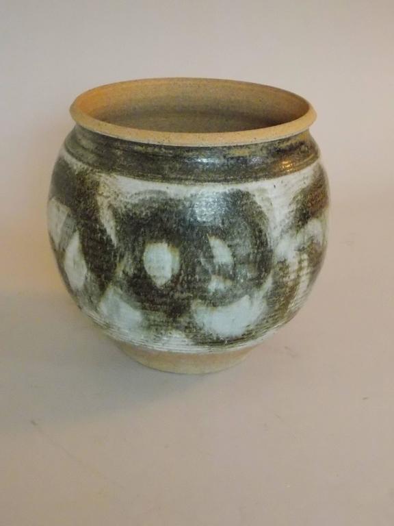 Large Mid Century Studio Art Pottery Planter At 1stdibs