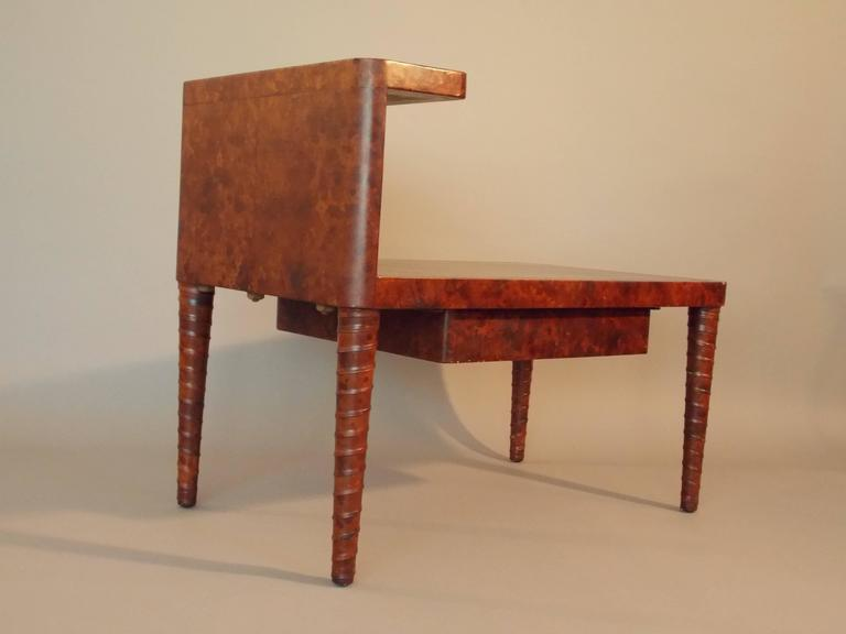 Woodwork William Billy Haines Leather Table For Sale