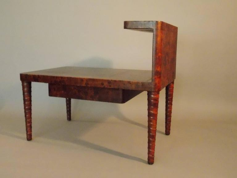 20th Century William Billy Haines Leather Table For Sale