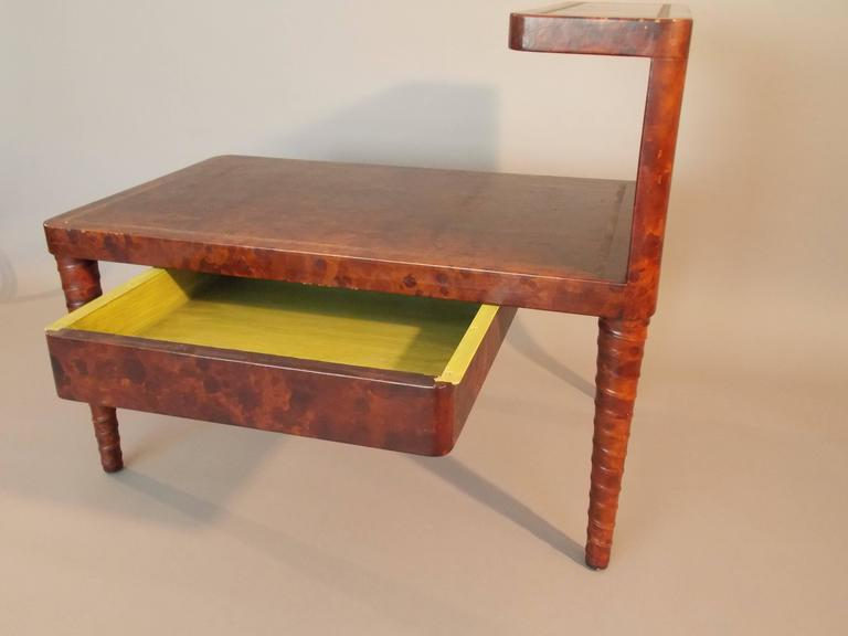 William Billy Haines Leather Table For Sale 1