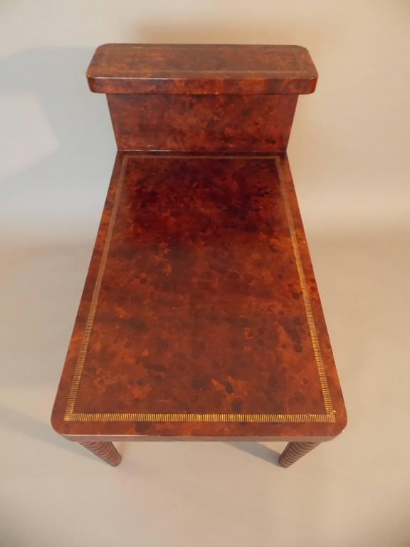 American William Billy Haines Leather Table For Sale