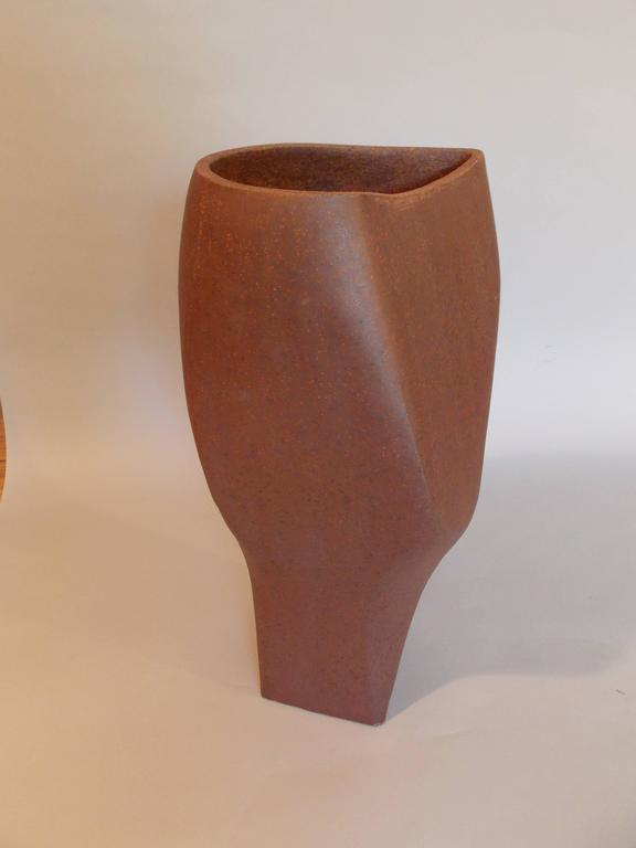 Fired David Cressey Sculptural Planter or Vase For Sale