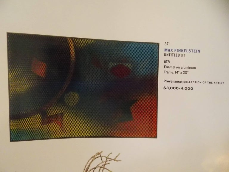 Max Finkelstein Modern Op Art Painting 6