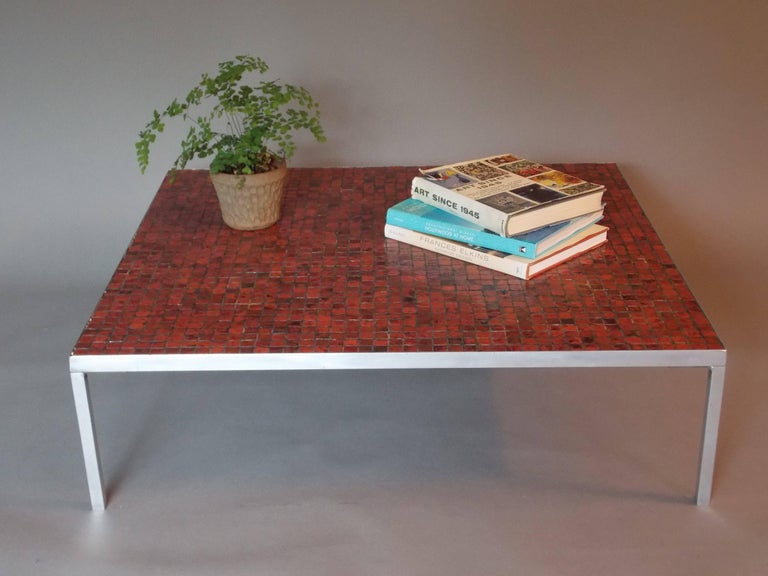 Midcentury Modern Low Coffee Table With Mosaic Tile Top For Sale At 1stdibs