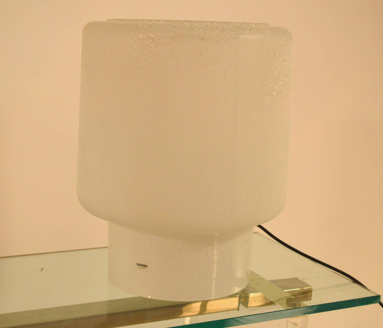 Large Murano Table Lamp by Alfredo Barbini For Sale at 1stdibs