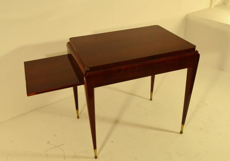Art deco rosewood coffee table with extension leave in the for Coffee table extension