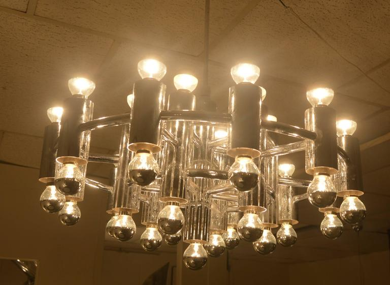 Extra Large Chrome Plated Chandelier With 37 Light Fixtures For Sale At 1stdibs
