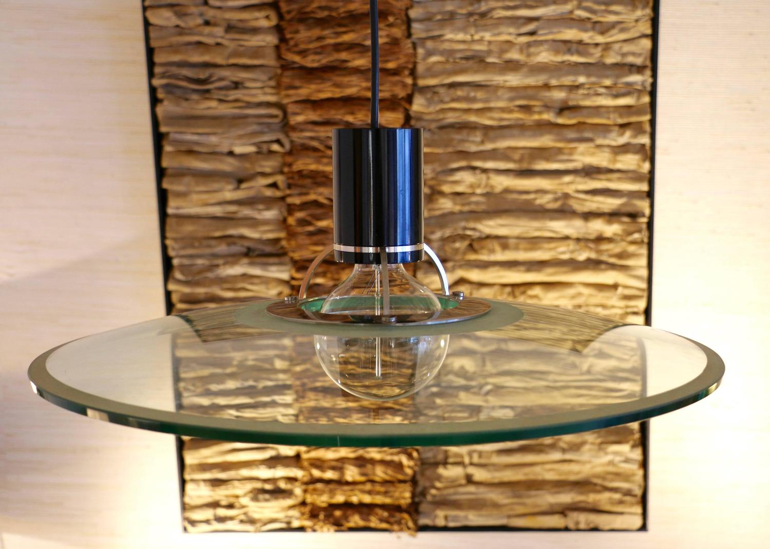 1970s Glass Pendant Light For Sale At 1stdibs