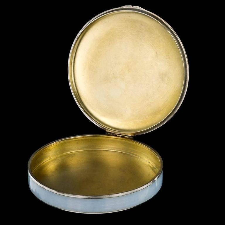 Antique Magnificent German Solid Silver and Hand-Painted Enamel Box, circa 1900 In Excellent Condition For Sale In London, GB
