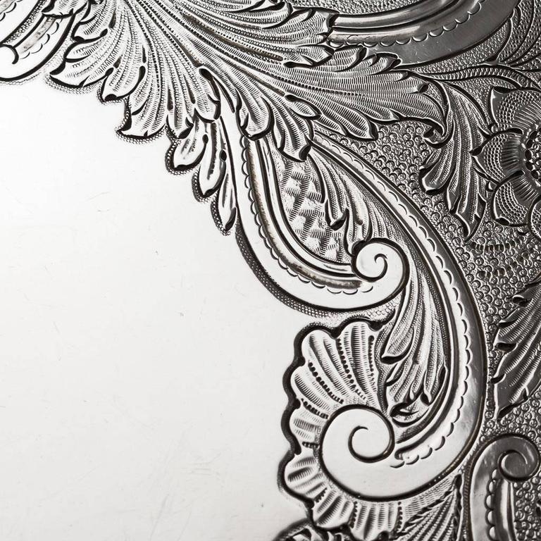19th Century Regency Solid Silver Magnificent Salver Tray, J Hayne, circa 1827 For Sale 1