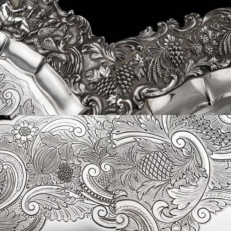 19th Century Regency Solid Silver Magnificent Salver Tray, J Hayne, circa 1827 For Sale 2