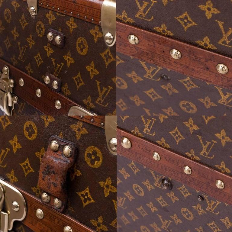 20th Century Rare Louis Vuitton Woven Canvas Wardrobe Trunk, circa 1930 7