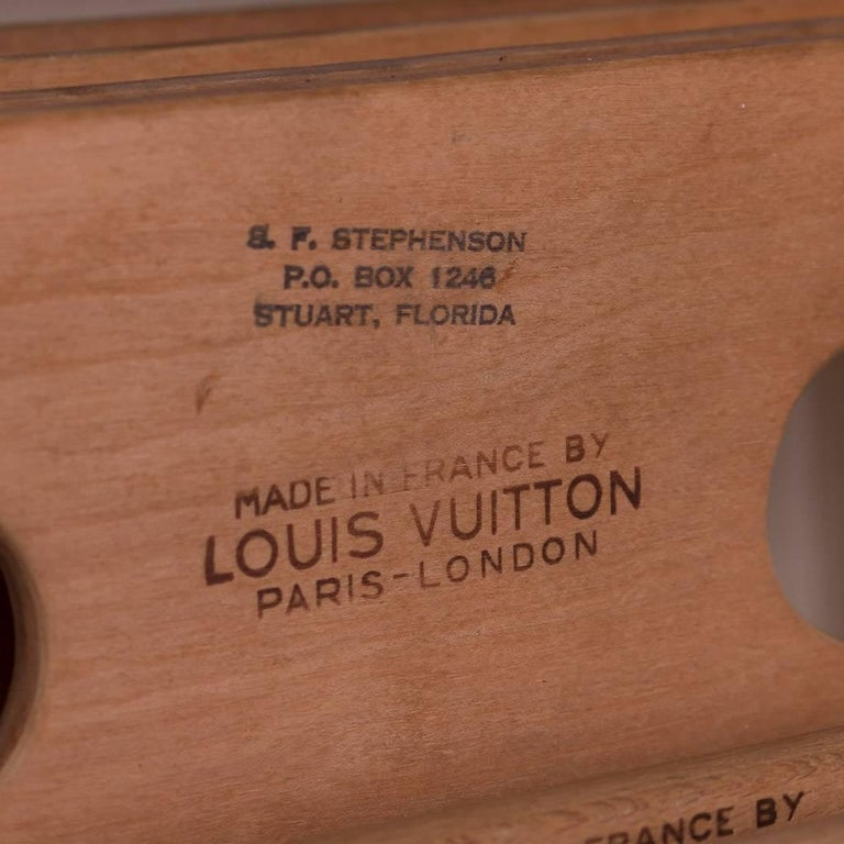 20th Century Rare Louis Vuitton Woven Canvas Wardrobe Trunk, circa 1930 9