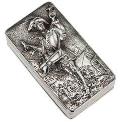 Antique Georgian Solid Silver Pedlar Snuff Box, John Linnit, circa 1820