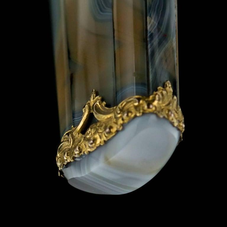 Antique 18th Century Georgian 18-Karat Gold Agate Etui, London, circa 1760 For Sale 4