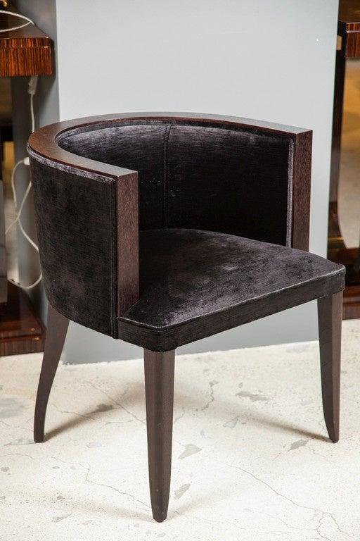 art deco style barrel dining or occasional chair for sale