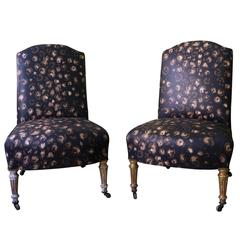 Pair of Late 19th Century French Slipper Chairs