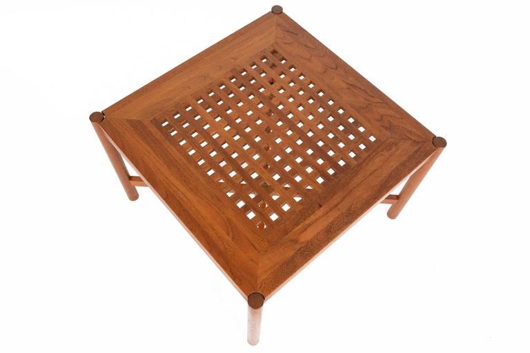 Enormt Danish Modern Square Teak Coffee Table by Trip Trap For Sale at SN74