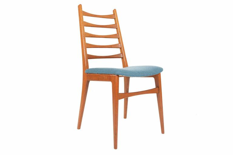 set of six teak kofoed style ladder back dining chairs at 1stdibs