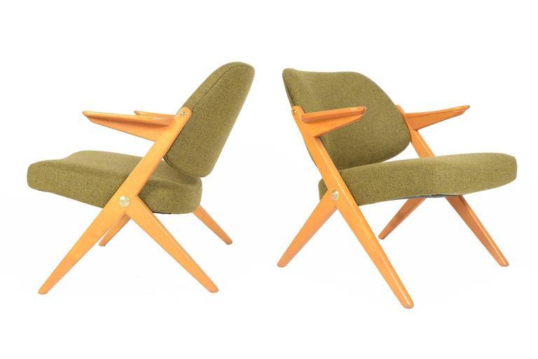 "Pair Of Bengt Ruda ""Triva"" Scissor Chairs At 1stdibs"