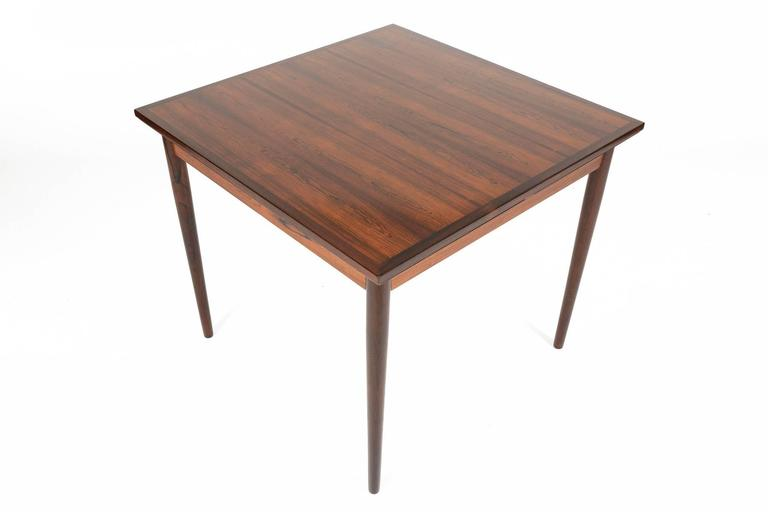 Brazilian Rosewood Square Draw Leaf Dining Table At 1stdibs