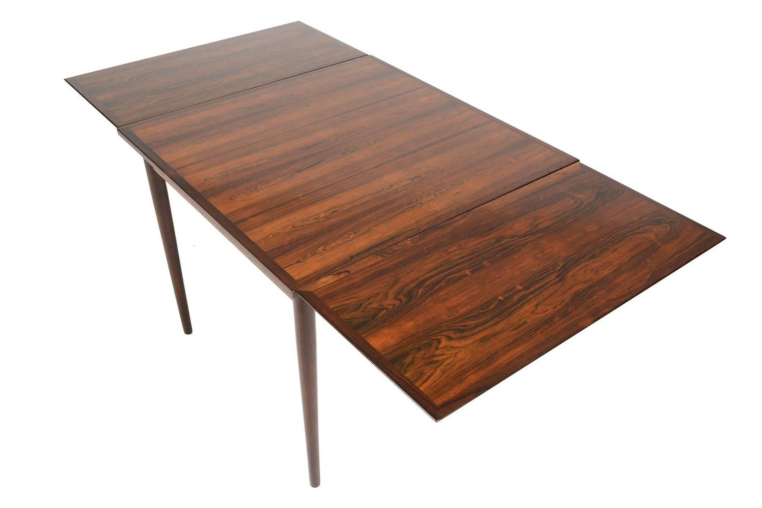 Brazilian rosewood square draw leaf dining table for sale for Most beautiful dining room tables
