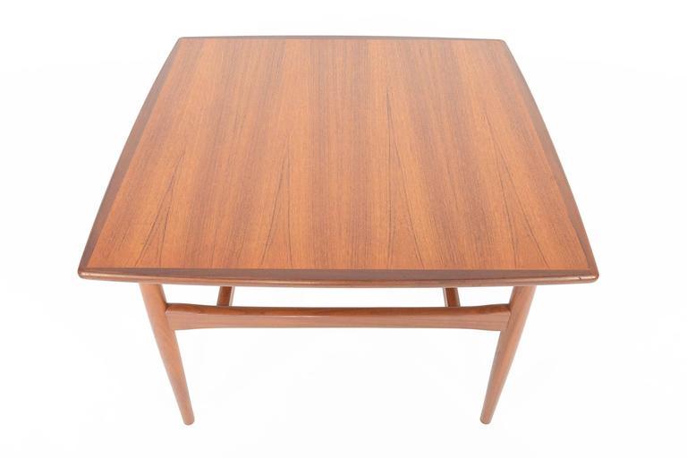 Danish Modern Square Modern Teak Coffee Table At 1stdibs